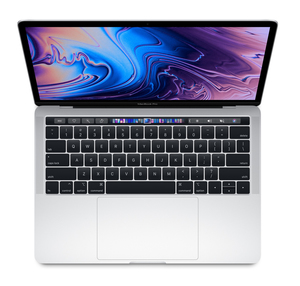 MacBook Pro 13-inch with Touch Bar Silver 2.3GHz Quad-Core 8th-Generation Intel-Core i5/256GB Arabic/English