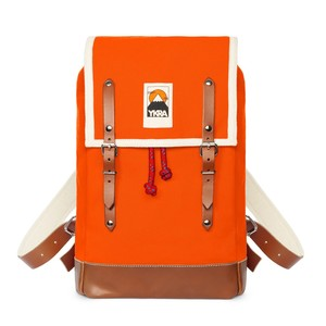 Ykra Matra Mini Leather Strap Orange Backpack