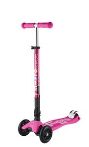 Maxi Deluxe Foldable T-Bar Scooter Shocking Pink