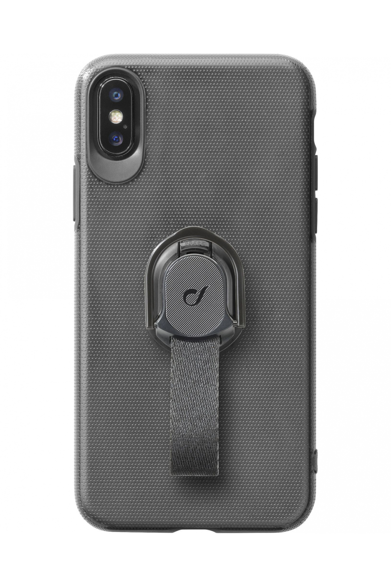 separation shoes 2480a b0b28 CellularLine Case Black with Fingerloop for iPhone XS Max