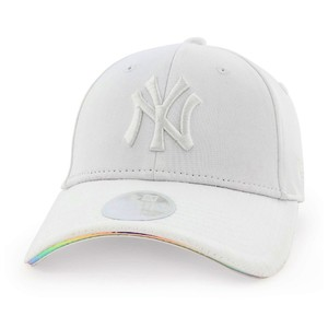New Era MLB Iridescent NY Yankees Womens Cap White