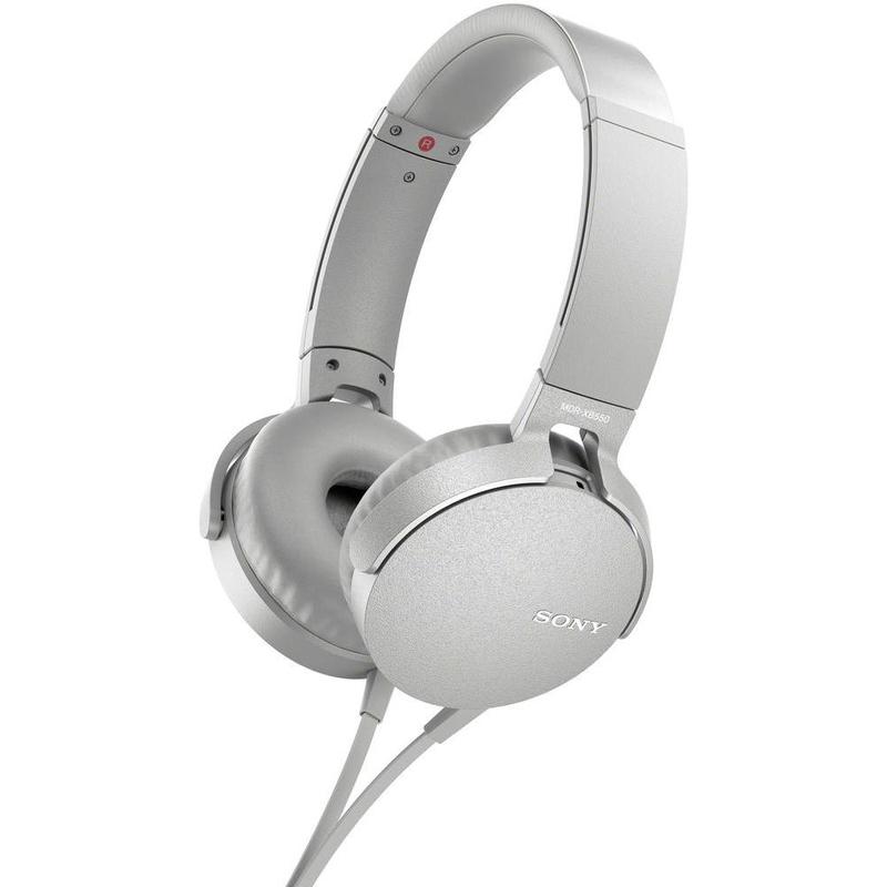 Sony MDR-XB550AP White Extra Bass Headphones
