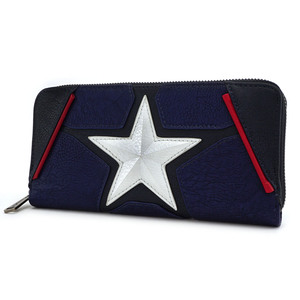 Loungefly Marvel Captain America Zip Around Wallet