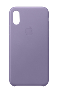 Apple Leather Case Lilac for iPhone XS