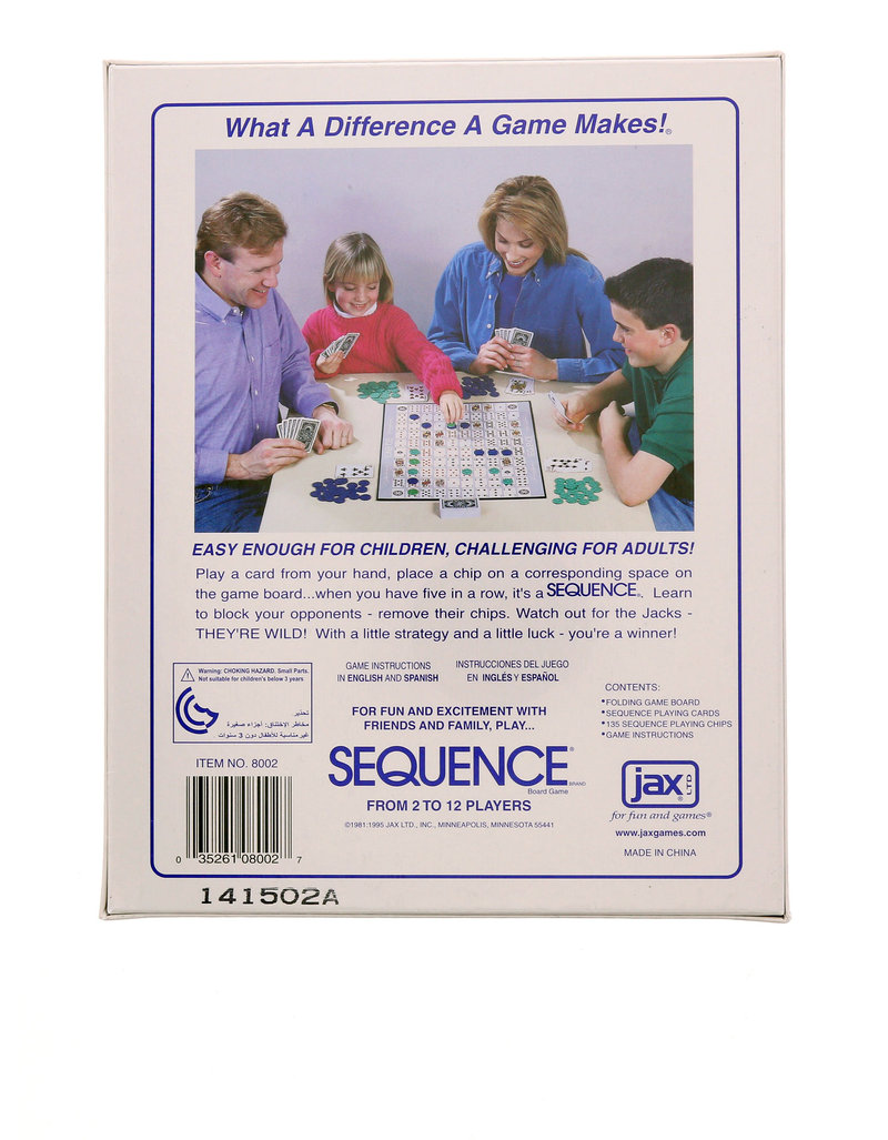 Jax Sequence Board Game Family Games Games Puzzles Gifts