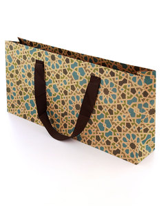 Colors & Shapes Oriental Mosaic Blue Craft Paper Gift Bag