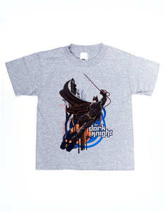 Batman Swinging Dark Knight Athletic Heather T-Shirt