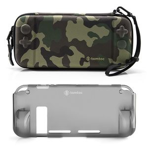 tomtoc Hard Shell Case Camouflage With Grip Back Cover for Nintendo Switch