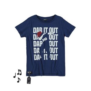 Yporque Dab Kids Tee with Sound Effects Navy