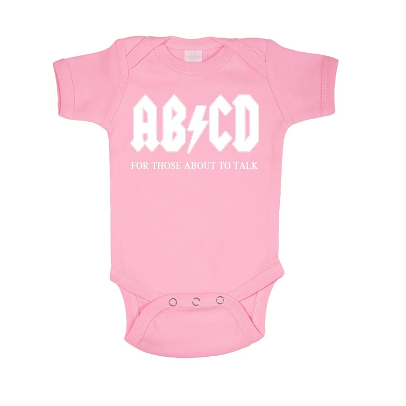 Ab/Cd Pink Toddler Onesie