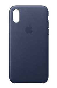 Apple Leather Case Midnight Blue for iPhone X