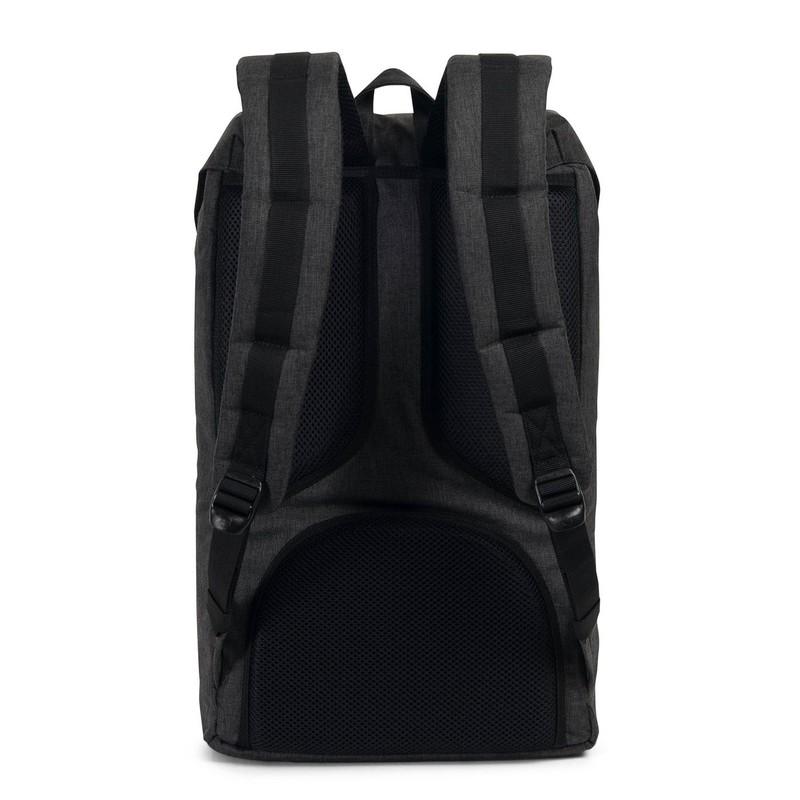 6feda012a7a Herschel Little America Black Crosshatch Black Rubber Backpack ...