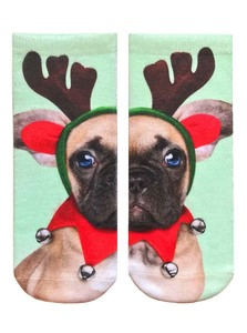 LIVING ROYAL ELF PUPPY WOMEN'S ANKLE SOCKS