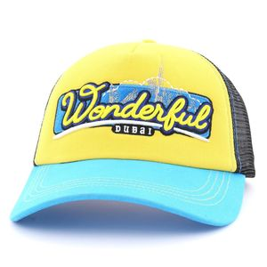 B180 Woderfull Dubai 2 Unisex Cap Blue/Yellow/Black