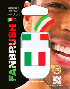 Fanbrush Italy Flag Face Paint