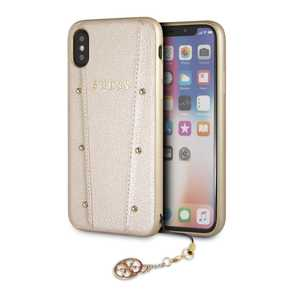 Guess Kaia Case Gold for iPhone XS