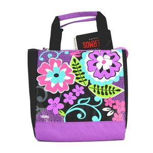 Thermos Black Floral Lunch Bag Kids' Lunch Bag