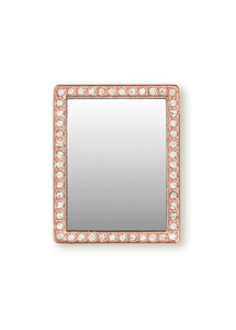 iDecoz Rose Gold Rectangle with Crystals Phone Mirror