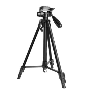 Promate Precise-140 Black Extendible Tripod with 3-Way Pan & Tilt Head