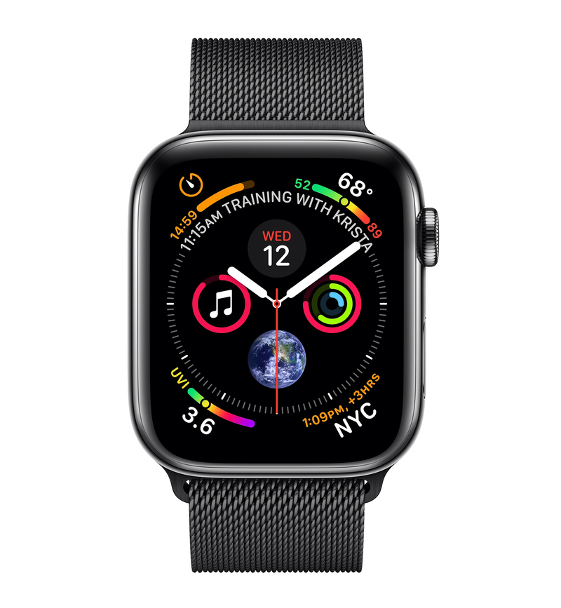 new product 8c892 e318c Apple Watch Series 4 GPS +Cellular 44mm Space Black Stainless Steel Case  with Space Black Milanese Loop