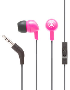 Wicked Audio Brawl Pink Punch With Mic Earbuds