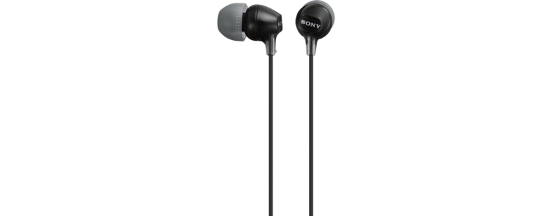 Sony Mdrex15Ap Black Earphones