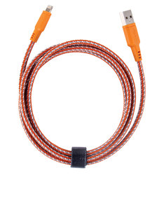 Energea NyloTough Rapid Charge & Sync Orange Lightning Cable 1.5m