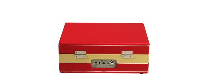 Ricatech Rtt95 Suitcase Turntable Red Beige