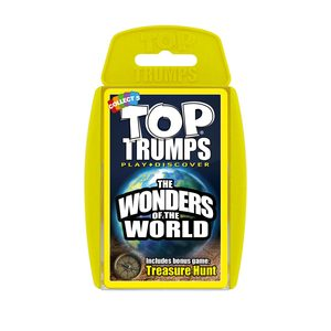 TOP TRUMPS WONDERS OF THE WORLD CARD GAMES ENGLISH & ARABIC