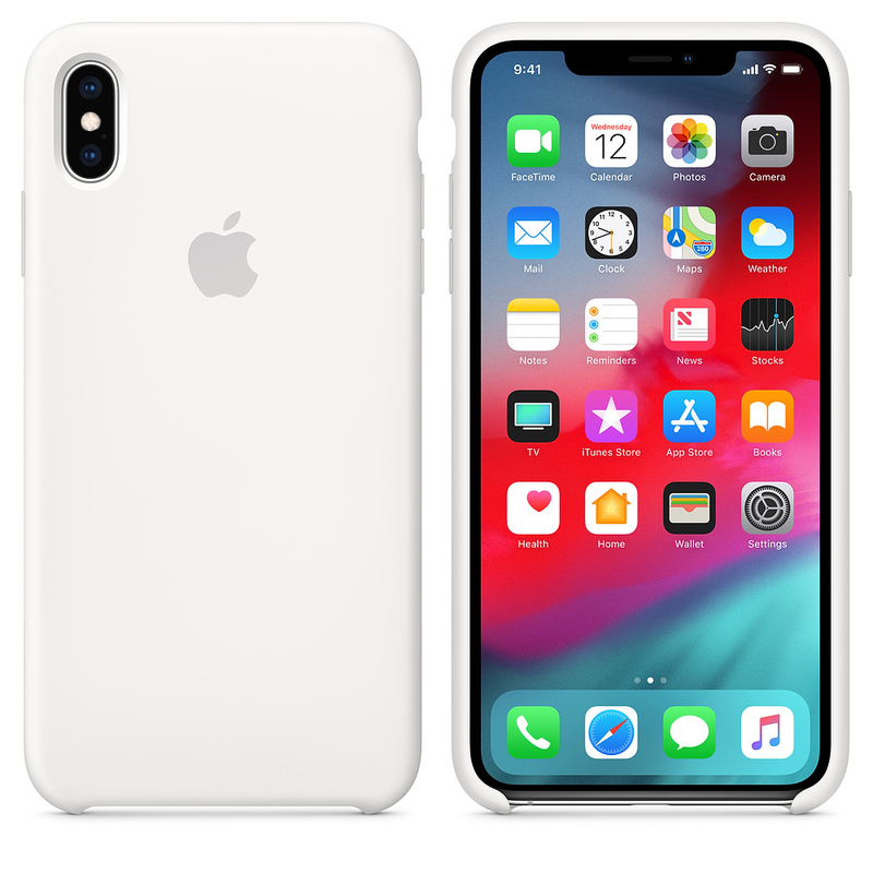 timeless design 5b1fe 2ee32 Apple Silicone Case White for iPhone XS Max