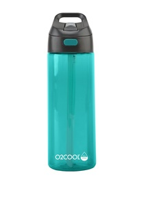 O2Cool Teal Prism Brighton Mist N Sip Top 24 Oz Water Bottle