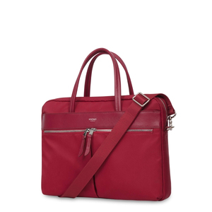 KNOMO HANOVER SLIM BRIEFCASE CHERRY FOR LAPTOP UP TO 14-INCH