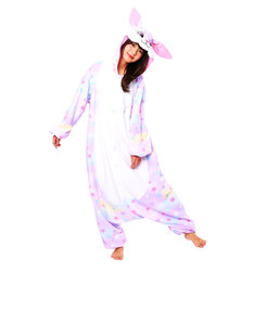 Dreamin Bunny with Stars Kigurumi Fleece Costume