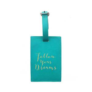 Bombay Duck Luggage Tag Follow Your Dreams Aqua Bag Accessories