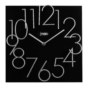 Lowell Square Quartz Black Wall Clock