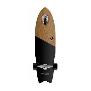 "Street Surfing Shark Attack 36"" Black Longboard"
