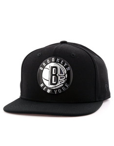 New Era NBA Metallic Brooklyn Nets Black Cap