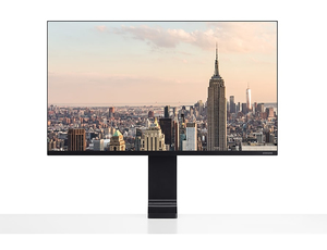 "Samsung 32"" UHD Clamp-Type Monitor with Space-Saving Design"