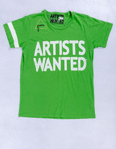 Artists Wanted Invitesimple School Green T-Shirt