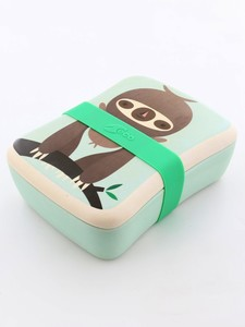 Petit Monkey Bamboo Lunchbox Sloth Green