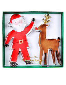 Meri Meri Christmas Santa and Reindeer Cookie Cutters
