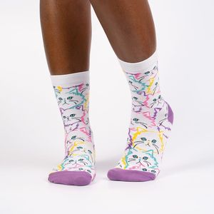 Sock It To Me Women's Crew Fur Real Socks