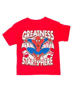 Mad Engine Spider-Man Great Start Red Juvy T-Shirt