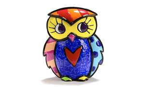 Romero Britto Mini Owl Figurine