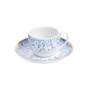 Silsal Mirrors Espresso Cup And Saucer With Gold 22 Carat