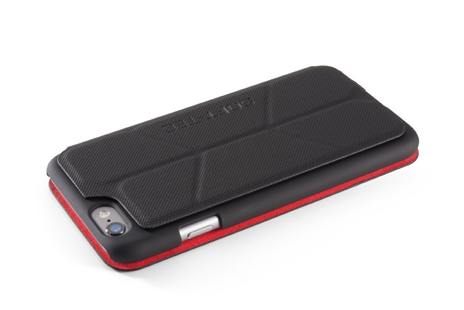 Element Soft-Tec Wallet Case Black/Red Suede iPhone 6
