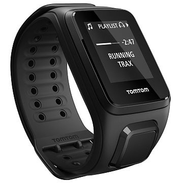 Tomtom Spark Music Black Large Gps Fitness Watch With 3Gb Storage
