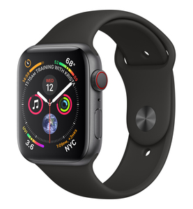 Apple Watch Series 4 GPS +Cellular 44mm Space Grey Aluminium Case with Black Sport Band