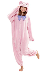 Teddy Bear Kigurumi Pink/Purple