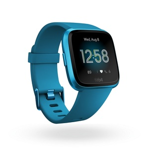 Fitbit Versa Lite Smart Watch Marina Blue Aluminum